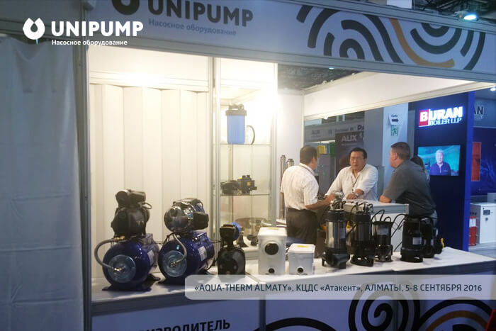 UNIPUMP stand in «AQUA-THERM ALMATY» 2016 exhibition