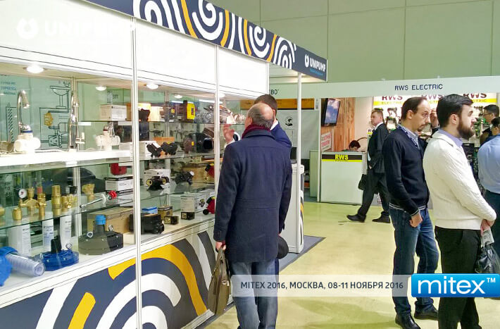 UNIPUMP stand in the Moscow International Fair for Tools, Equipment and Manufacturing Technologies MITEX 2016